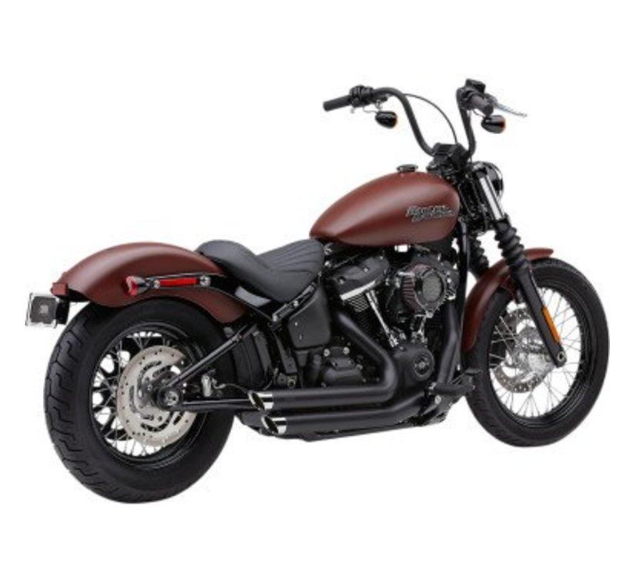 Harley Davidson Speedster Exhaust  Slashdown  Black or Chrome  2018-up Softail FL/FX