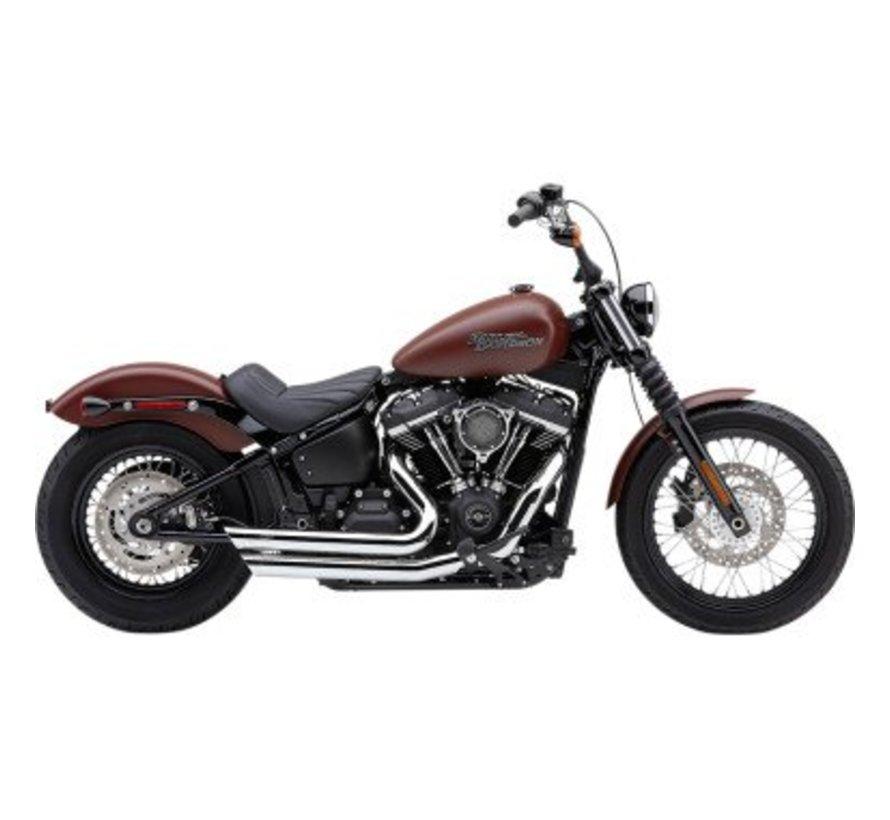 Harley Davidson Speedster kort uitlaatsysteem met Race Pro-tips Zwart of Chrome 2018-up Softail FL / FX - kopiëren
