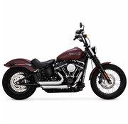 Vance and Hines Shortshots Staggered Black or Chrome - Softail Models FL/FX