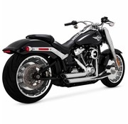 Vance and Hines Shortshots Staggered Black or Chrome 2018-up - Softail Models