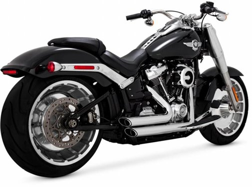 Vance and Hines Shortshots Staggered Black of Chrome 2018-up - Softail-modellen