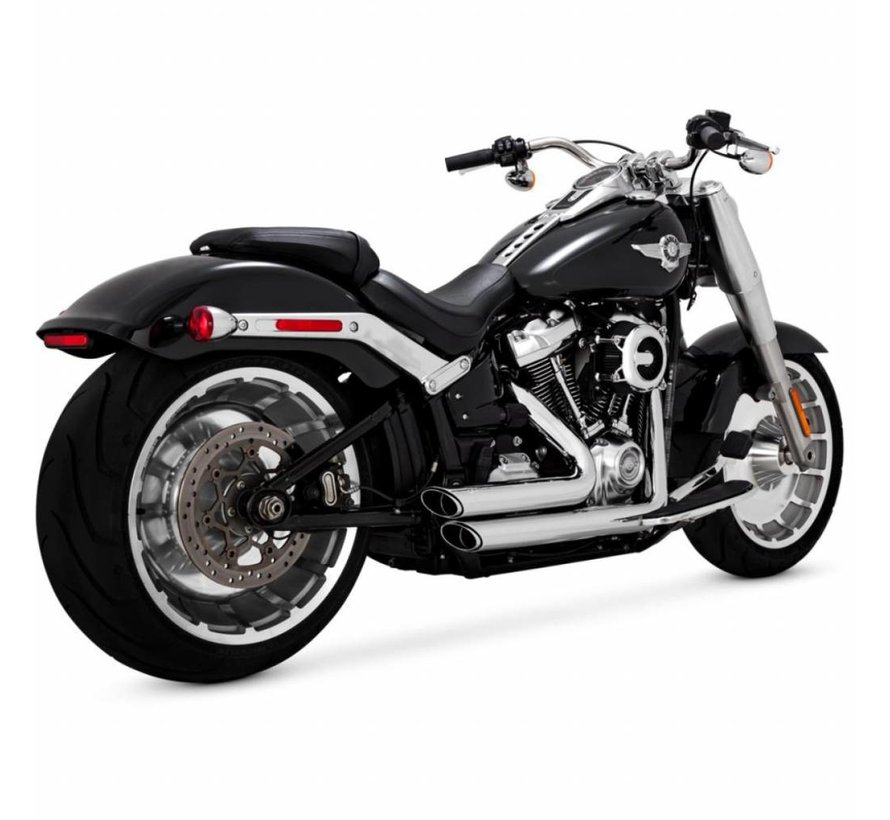 Shortshots Staggered Black or Chrome 2018-up - Softail Models