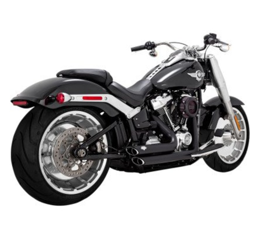 Harley Davidson Shortshots Staggered Black or Chrome 2018-up - Softail Models