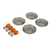 Drag Specialities turn signal Flat lens smoke lens kit