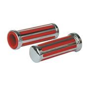 Apretones Rail, incrustaciones de color rojo