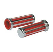 TC-Choppers handlebars Grips Rail red inlay