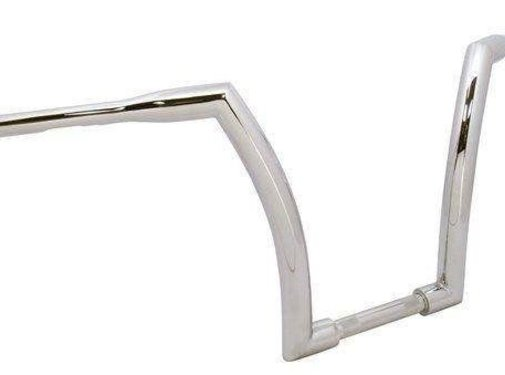 """V-Factor Handlebar with 16"""" Rise and 1.5 inch outside diameter - Chrome or black - Copy"""