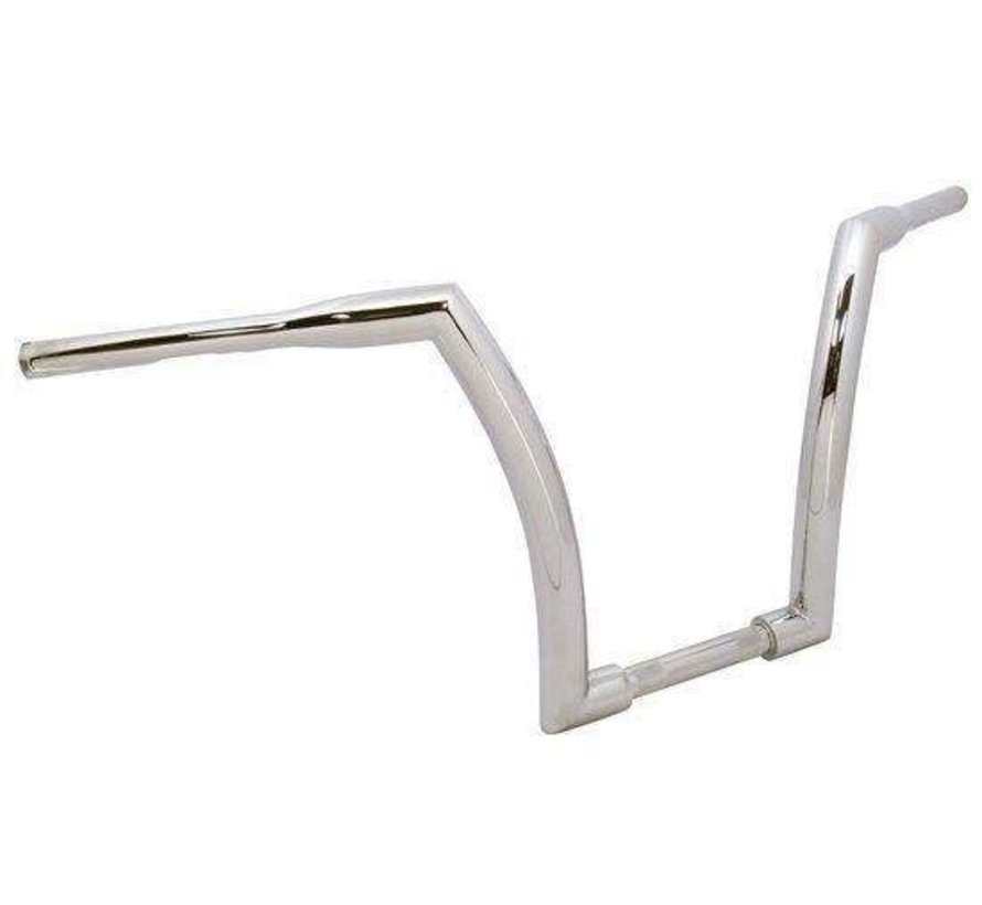 "Handlebar with 16"" Rise and 1.5 inch outside diameter - Chrome or black - Copy"