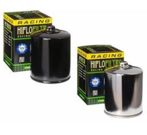 Hiflo-Filtro Oliefilter Hoog doorstroming met topmoer - Zwart of Chroom Past op:> 2017 M-Eight 99-17 Twincam
