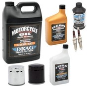 Drag Spec. Maintenance Complete Service Kit with spark plugs Engine Drive Train fork Oil Brake Fluid for 1984-2017 Sportster XL