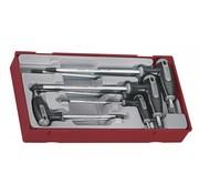 Teng Tools TTTX7 Torxset mit T-hendel Tc-Tablett 10 bis 40, 7St