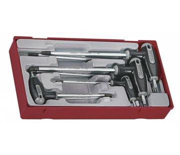 Teng Tools TTTX7  Torxset with T-hendel Tc-tray 10 till 40, 7pcs