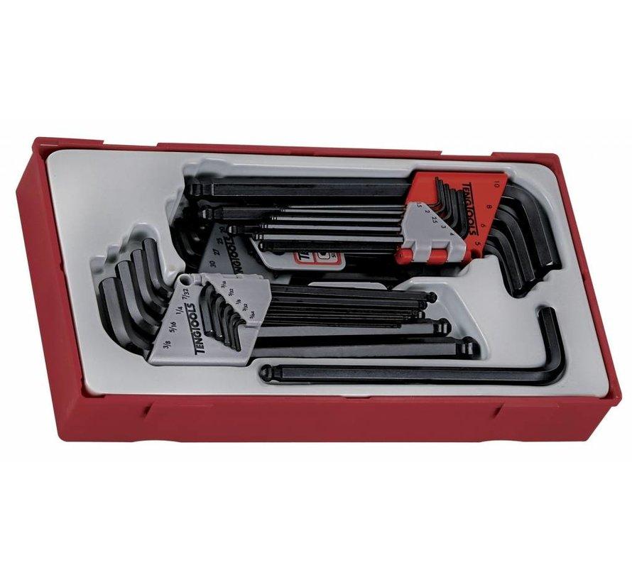 Teng Tools TTHT28 28-teiliger metrischer und AF-Hex & TX-Schlüsselsatz