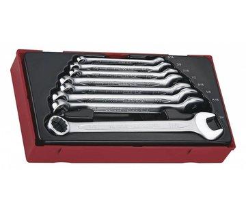 Teng Tools TT3592 - 8-teiliges 12-Punkt-AF-Kombinationsschlüsselset - USA