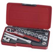 """Teng Tools Teng Tools T3834 34-delige 3/8 """"dopsleutelset - Metrische maat"""