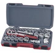 """Teng Tools T1230 Socket set 1/2 """"mm / AF 30 stuks Teng Tools - Amerikaanse en metrische maten"""