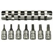 """Teng Tools M1408TX Rail de clipsage d'embout TX pour lecteur 1/4 """", 7 pièces"""