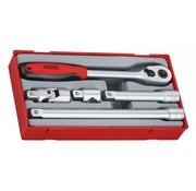 """Teng Tools TT1205 Juego de accesorios y trinquete de 5 piezas, 1/2 """""""