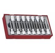 Teng Tools TTRS15 Juego de dados de 15 piezas con ranura y ranura