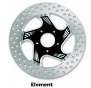 PM brake rotor contrast-cut 2-piece
