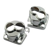 MCS housses de blocs de poussoir, Chrome, Evo