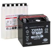Yuasa AGM onderhoudsvrije accu YTX14L-BS, past op XL Sportster 883/1200 2004-2021