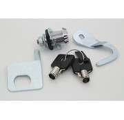 Chrome Saddlebag Lock and Key Kit