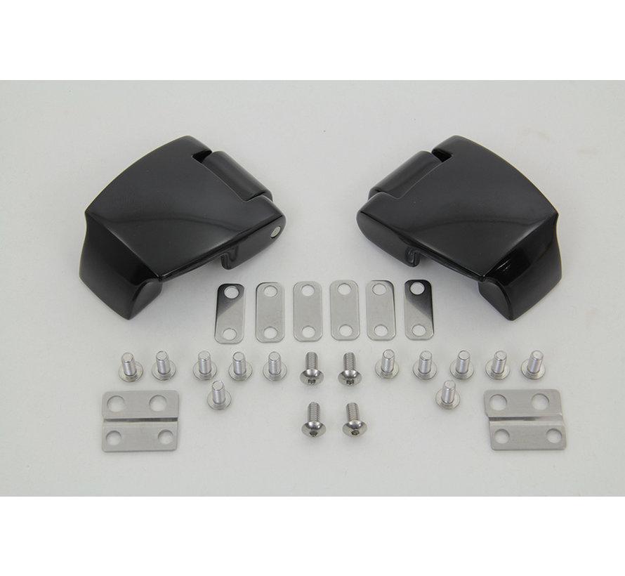 Black Touring Pack Luggage Hinge Kit