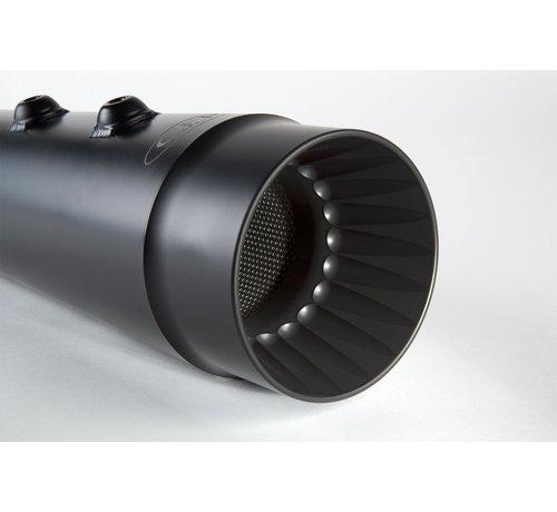 CFR Muffler 98-16  FLH Slip-On : Black or Chrome  - fluted