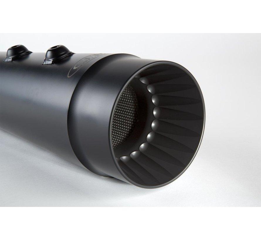 Muffler 98-16  FLH Slip-On : Black or Chrome  - fluted