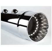 CFR Muffler 98-16 FLH Slip-On: Negro o cromo - estriado - Copy