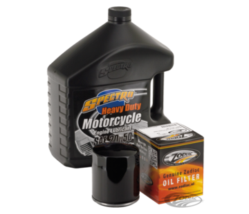 Spectro Maintenance Engine Oil Service Kit with Chrome or black oil filter for 1984-2014 Sportster XL and 1984-1999 Evolution Big Twin