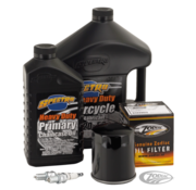 Spectro Engine Drive Train Oil and Spark Plug Total Service Kit for 1984 to present Sportster XL except XL 1200S 4-plug