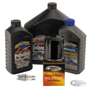 Spectro Engine Drive Train Oil and Spark Plug Total Service Kit for 1984-999 Evolution Big Twin