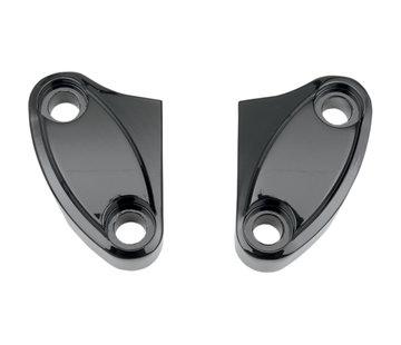 Drag Specialities Lenker Riser Clamp 2-teilig, schwarz oder chrom