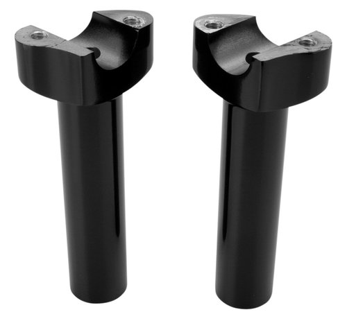 "Drag Specialities Manubrios elevadores aluminio forzado negro o cromo -14 cm (5,5 "") Recto"