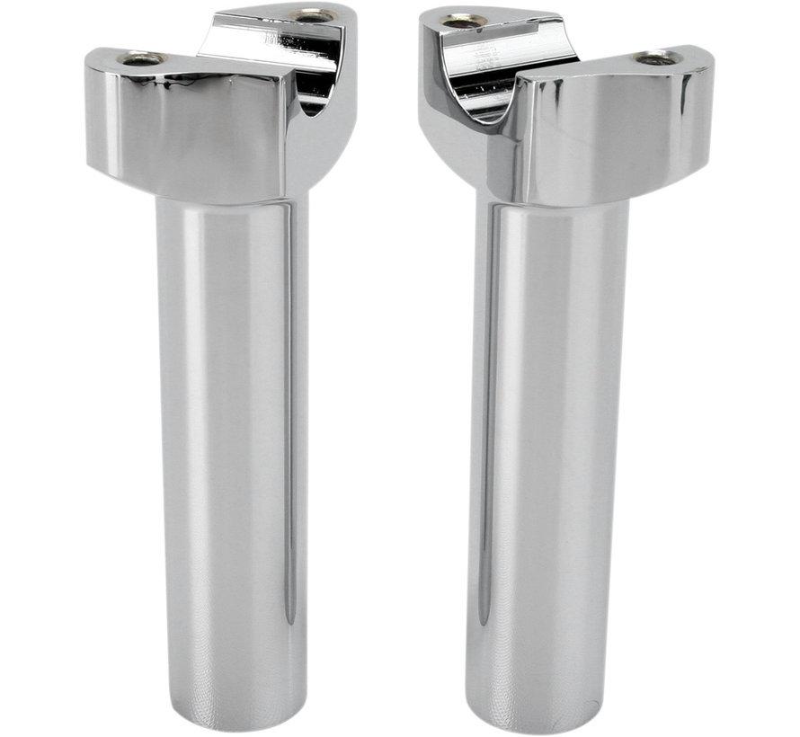 """Manubrios elevadores aluminio forzado negro o cromo -14 cm (5,5 """") Recto"""