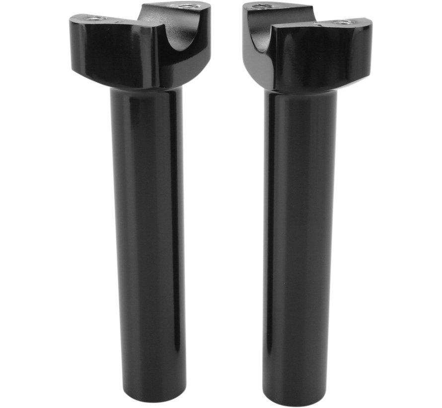 """Manubrios elevadores aluminio forzado negro o cromo -16,5 cm (6,5 """") Recto"""