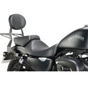 Sissybar en métal avec finition noire texturée - Convient à> 04-19 Sportster XL