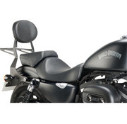 TC-Choppers Metal sissybar with textured black finish - Fits:> 04-19 Sportster XL