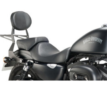 Metal sissybar with textured black finish - Fits:> 04-19 Sportster XL