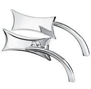Arlen Ness mirror mirror (four point) black or Chrome