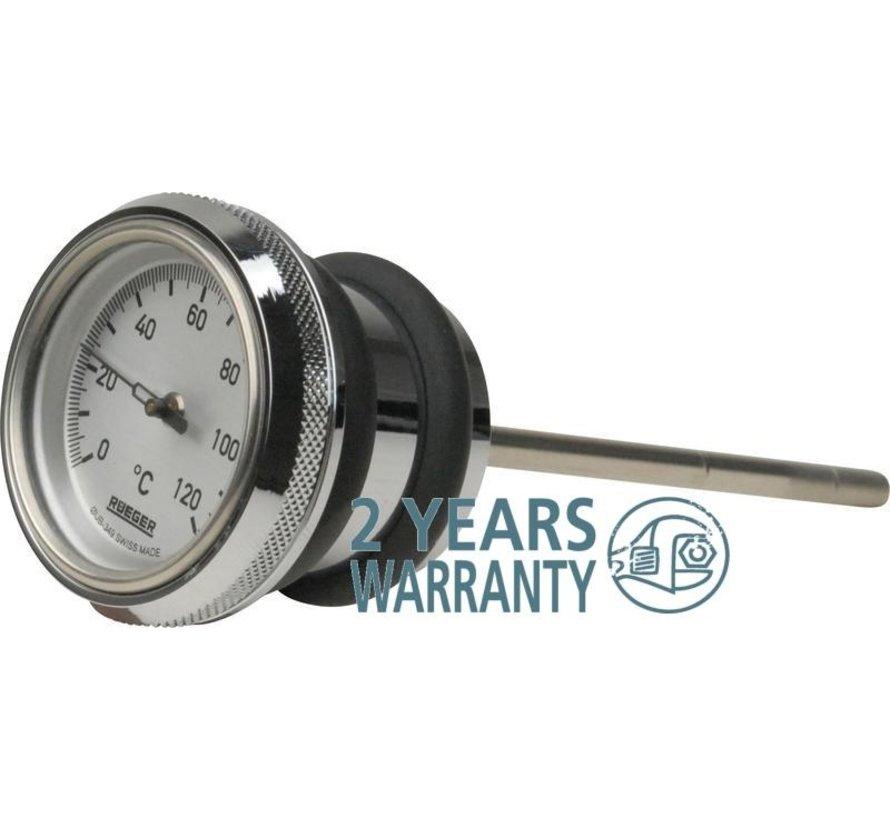 Harley Davidson Oil temp gauge - precisie-instrumenten van ongeëvenaarde kwaliteit - FXST en FLST 2000-2017