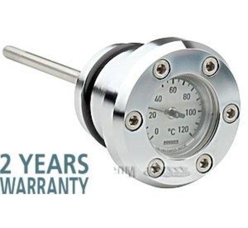 Harley Davidson Oil temp gauge - precisie-instrumenten van ongeëvenaarde kwaliteit - Evo Softail 1984-1999, Sportster 1982-2003 - Copy
