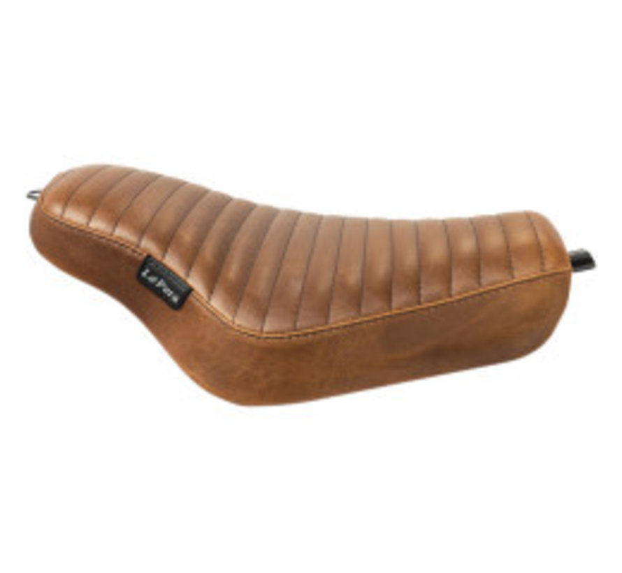 Streaker Seat geplooid bruin voor 04-06 / 10-19 XL Sportster