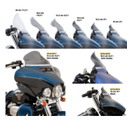 Klock Werks Flare Bagger Windschutzscheibe in verschiedenen Größen - Farbton Passend für:> 14-20 FLHT-, FLHX- und H-D-Trike-Modelle