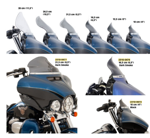 Flare Bagger Windshield various size - Tint,  14-19 FLH/T