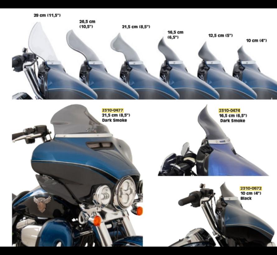 Flare Bagger Windschutzscheibe verschiedene Größe - Tint, 14-19 FLH / T
