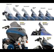 Flare Bagger Windschutzscheibe in verschiedenen Größen - dunkler Rauch, 14-19 FLH / T.