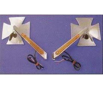 mirror led maltese cross turn-signal mirror